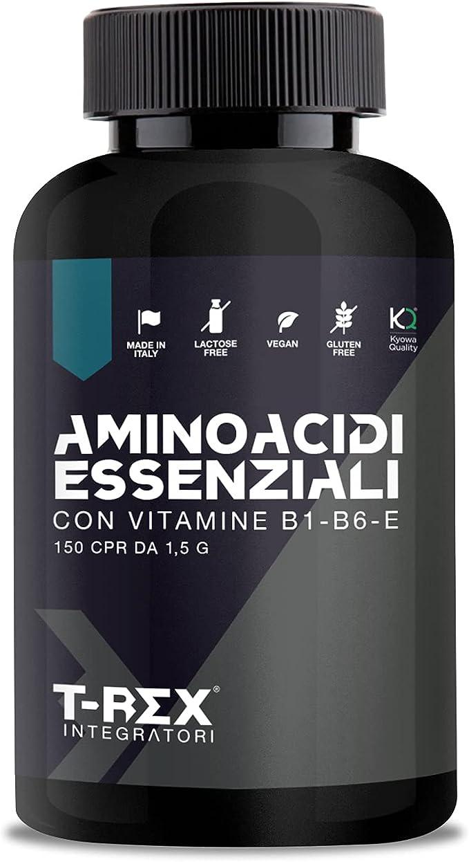 EAA Aminoácidos esenciales KYOWA QUALITY – 150 comprimidos de 1,5g con un mix de vitaminas B1, B6 y E. Suplemento indispensable para los deportistas.