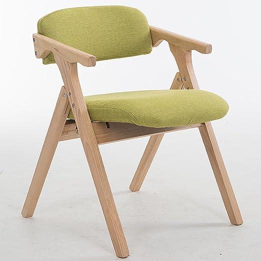 Silla Plegable Silla Plegable De Madera Moderna Simple Paño De Moda Cera De Aceite De Cuero