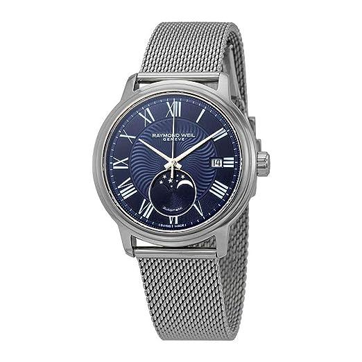 Reloj Automático Raymond Weil Maestro, 40 mm, Día, Fase Lunar, 2239M-ST-00509: Amazon.es: Relojes
