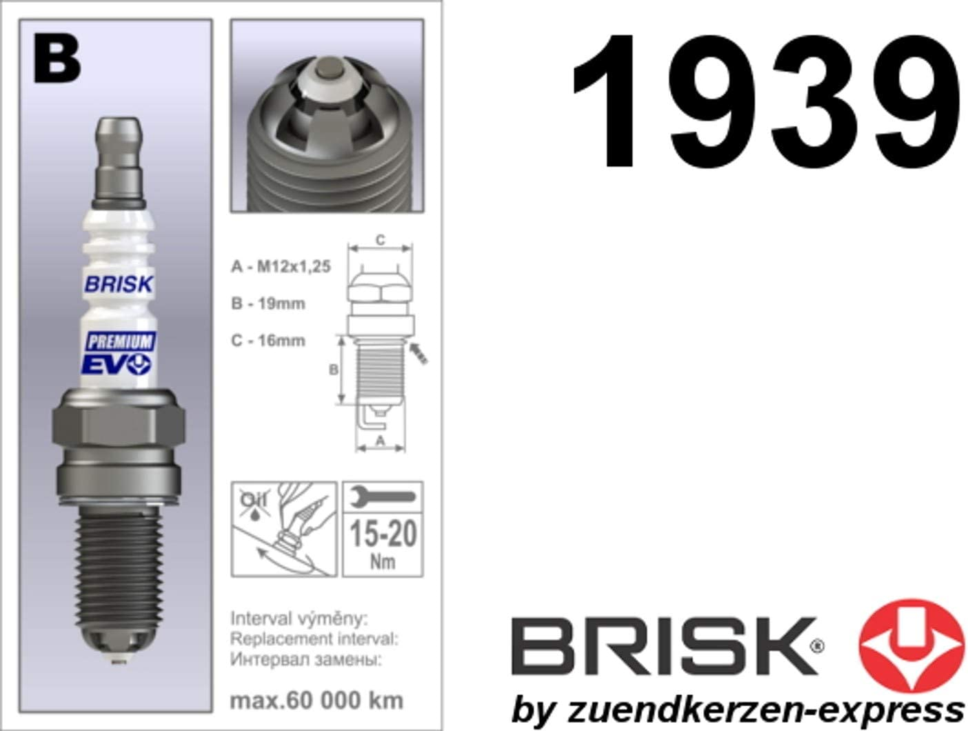 Buj/ías 4 unidades Brisk Premium EVO BR14BFXC 1939