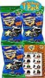 Hot Wheels Monster Jam Mini Mystery Trucks Series 3 Blind Bags Gift Set Party Bundle - 3 Pack