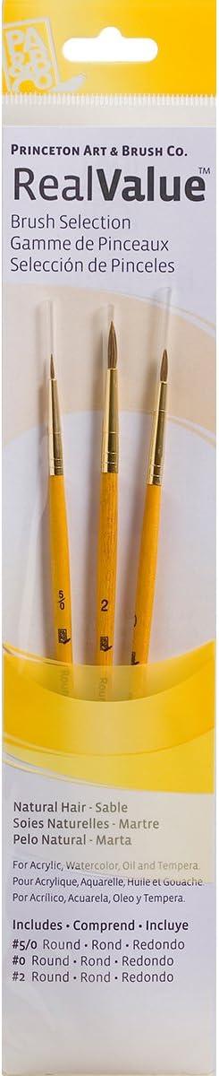 Natural Sable Real Value Brush Set-3//Pkg