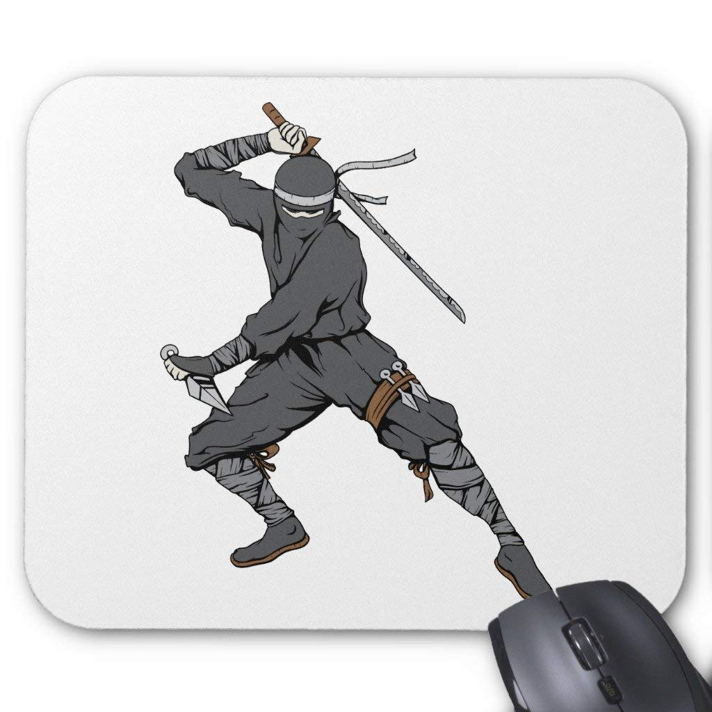 Whecom Alfombrillas de Ratón, Ninja ~ Ninjas 2 Martial Arts ...