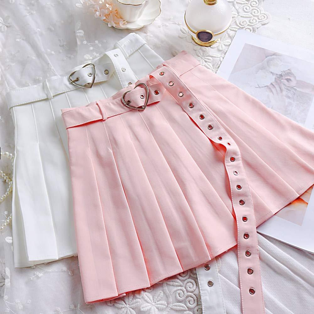 HAHAQZ Falda,Petticoat Underskirt Preppy Pink Gótico Estilo Kawaii ...