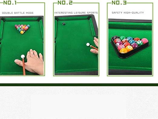 YuYzHanG Mini Mesa De Billar Mini Mini Mesa De Billar Taco De Billar Palo De Plástico Mesa De Billar Juguete De Escritorio De Escritorio Table Top Pool Game (Color ...