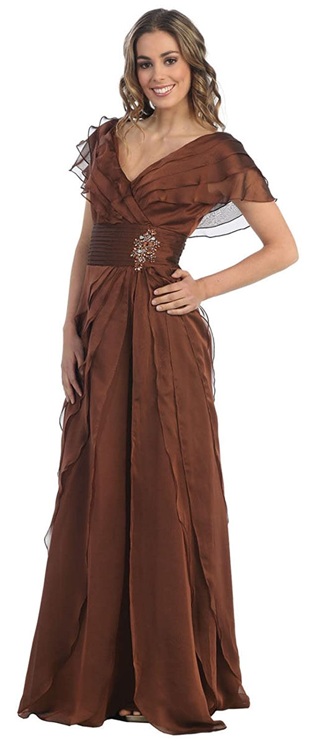 May Queen MQ831 Modest Mother of The Bride Dress at Amazon Womens Clothing store: