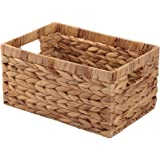 Storage Container, Natural Water Hyacinth Storage Bins Rectangular Basket,Arts and Crafts.