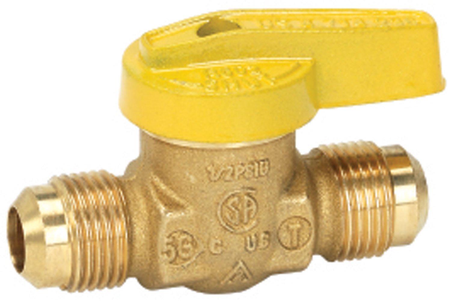 Homewerks VGV-1LH-T3B Premium Gas Ball Valve, Flare x Flare, Brass, 1/2-Inch