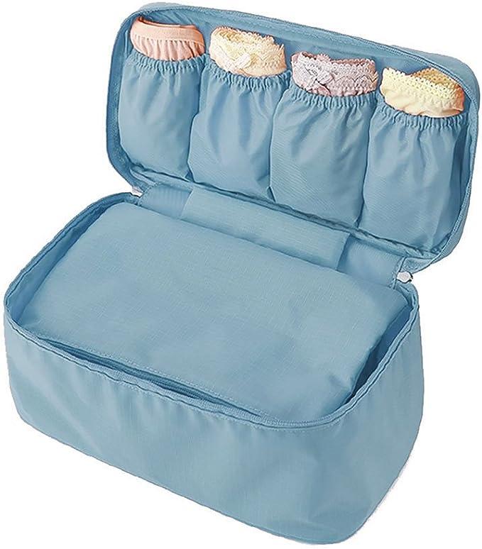 Amazon.com: Bolsa de almacenamiento de viaje para brasier ...