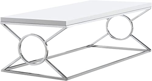 Monarch Specialties Coffee Table in White Finish