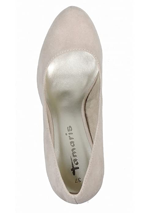 Tamaris 22418 22 Womens Pumps Textile, Light Gray, Size 8 UK
