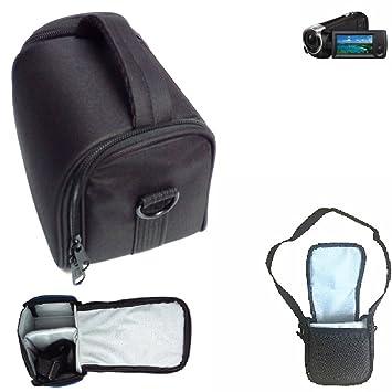 x 9.5cm Para Sony HDR-CX 405: Bolso de hombro // Bolsa de transporte c/ámara Funda protectora de viaje Estuche para accesorios Protecci/ón contra la lluvia antichoque negro Dimensiones: 13cm 5.1