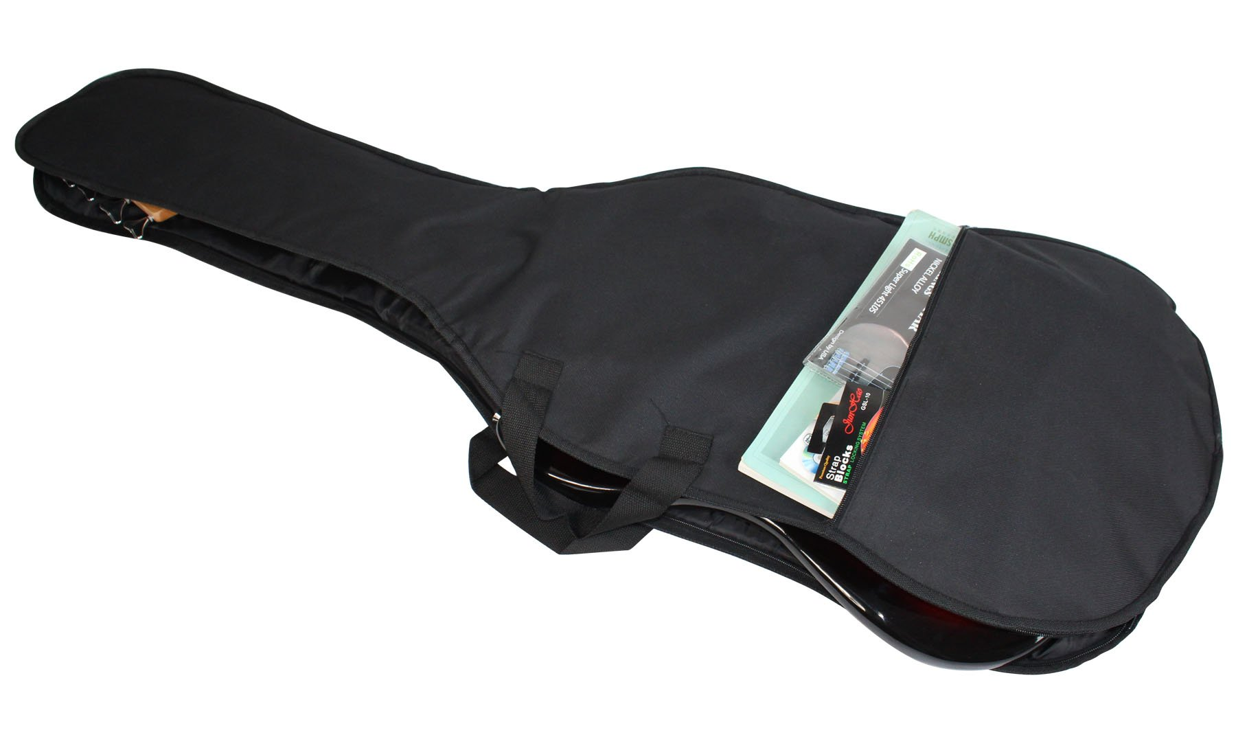 YMC 46-Inch Waterproof Dual Adjustable Shoulder Strap Electric Bass Guitar Gig Bag 5mm Padding Backpack with Accessories(Picks, Pick holder, Strap Lock) -For 43'' &46'' Full Size Bass Guitar by YMC (Image #5)