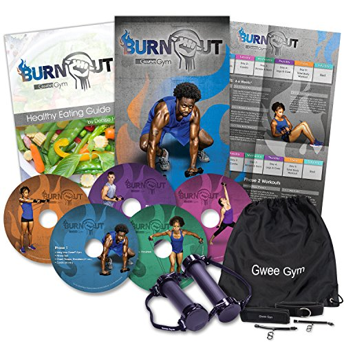 Burnout by Gwee Gym - High Intensity Fitness Program based on HIIT and RIPT - Complete System Includes Gwee Gym Pro, Workout DVDs, Healthy Eating Guide, and More - Weight Loss and Resistance Training