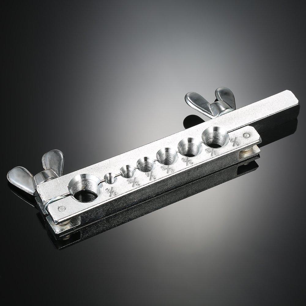 Tube Bender Pipe Repair Mechanic Frein Plombier Aluminium Copper Brass Flares /Évasement De Tuyau De Frein Avec 7 D/écoupe KKmoon 9pcs Ensemble /à Outils /à Double Tubulure Kit
