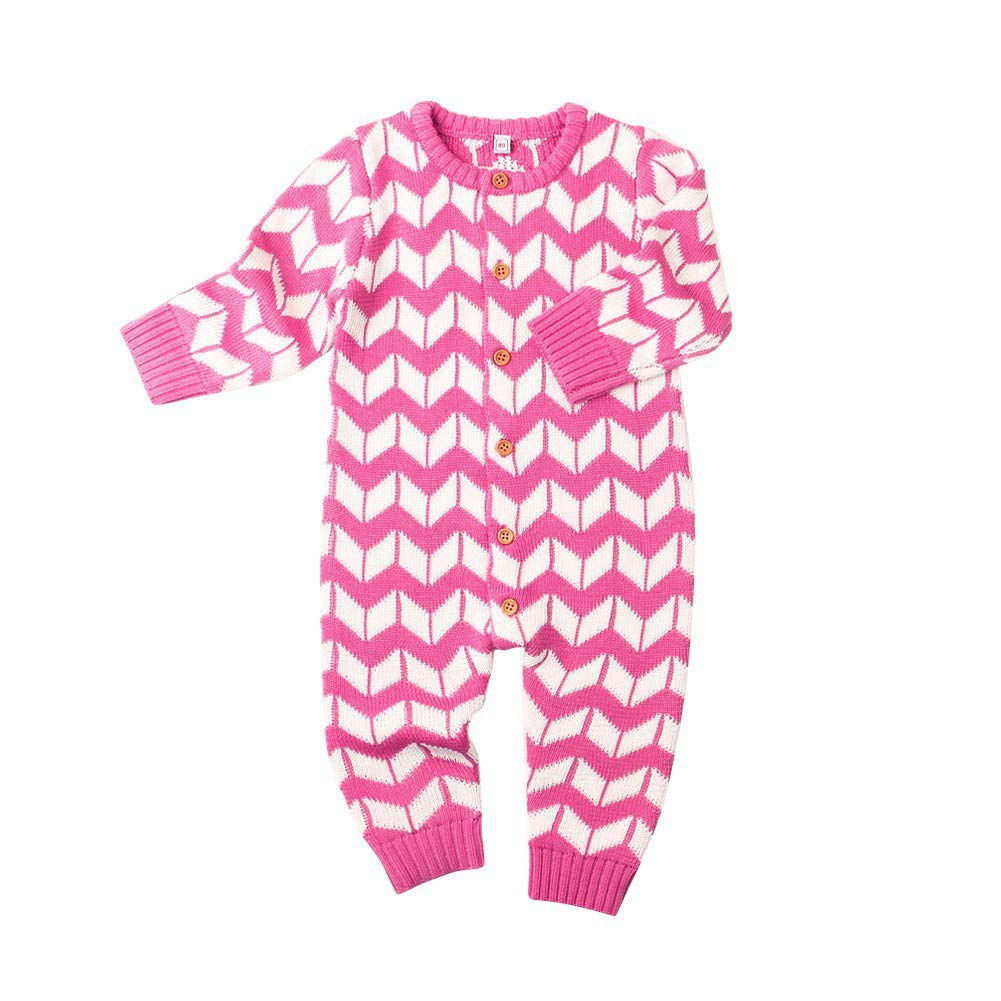 Weixinbuy Newborn Baby Girls Boys Winter Christmas Knitted Romper Bodysuit Sweater Clothes