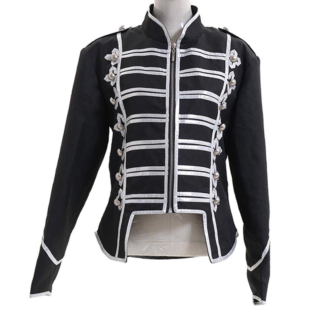 Male XXXL Pinlian Men's Silver Black Military Jacket Coat Male XXXL