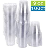 TashiBox 100 Sets Plastic Disposable Cups 100 count