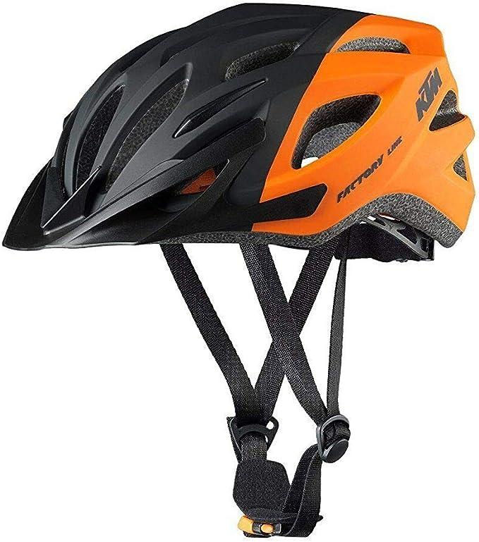 KTM – Casco de bicicleta – Negro Naranja – Factory Line – Talla 54 ...
