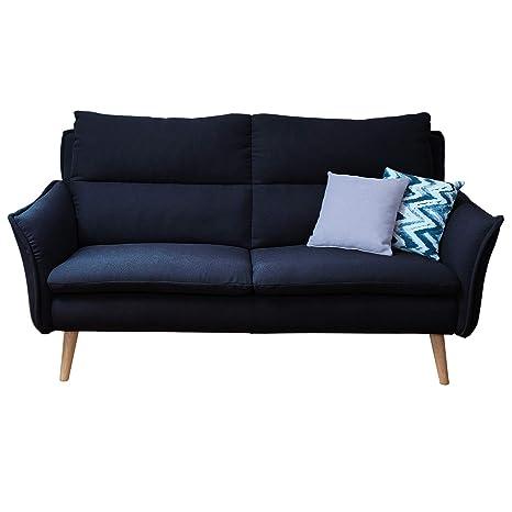 3 Sitzer Sofa Retrosofa Retrocouch 60er Jahre Einzelsofa Hochlehnersofa modern Wohnlandschaft auf Massivholzfüssen in skandinavischem Design