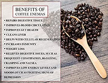 Organic Enema kit with 1lb Enema Coffee for The Best Detox Cleanse BPA Free See-Through Bucket 2 Red Tubes Gerson Specific Inflammation Relief – Full Instructions.