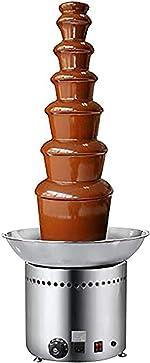 NEWTRY 7 Tiers Stainless Steel Chocolate Fondue Fountain Machine 17.64lbs Capacity
