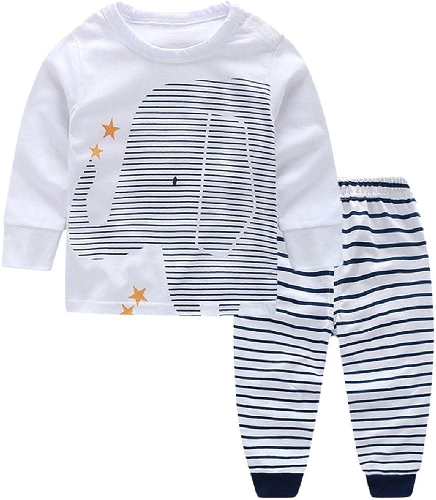 Ropa Bebe Recién Nacido Ropa de Primavera y Verano Bebé Niño Niña Camiseta Tops Camisas niños + Pants Pantalones 2 Pcs Conjunto de Ropa …