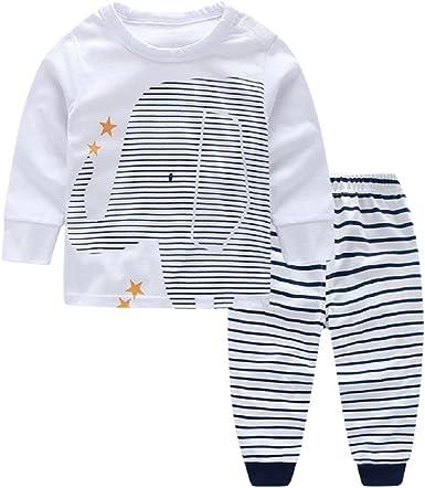 Oferta amazon: Yilaku Ropa Bebe Recién Nacido Ropa de otoño y Invierno Bebé Niño Niña Camiseta Tops Camisas niños + Pants Pantalones 2 Pcs Conjunto de Ropa Talla 18-24 meses