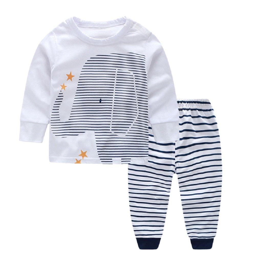 Yilaku Bebé Niñas Niños Ropa Conjunto para Tops y Pantalones Ropa para Dormir FF013