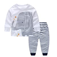 Newborn Baby Boy Clothes,Trouser & Tops Outfits Clothes Sets,Toddler Boys 0-24 Months Elephant Print