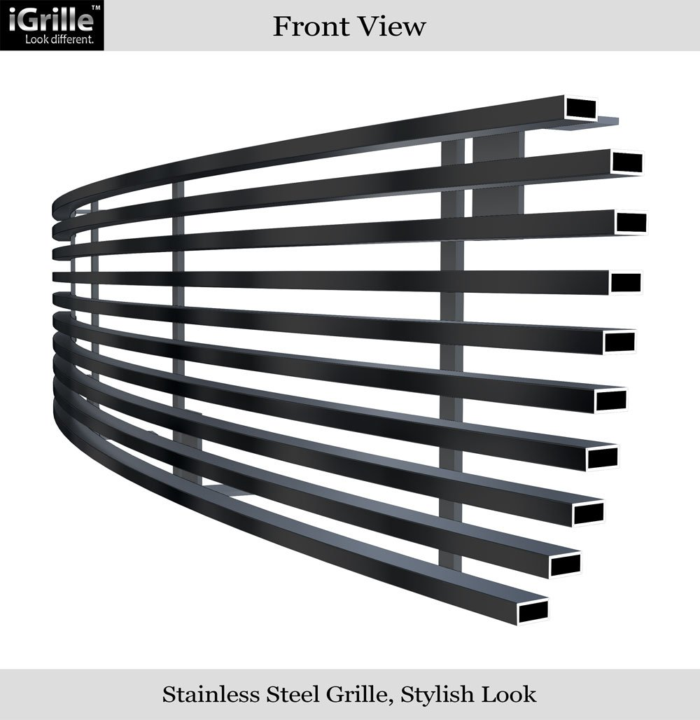 APS Compatible with 1998-2003 GMC S-15 Pickup Jimmy Somona Black Stainless Steel Billet Grille S18-J81756G