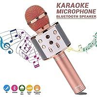 BETECK Micrófono Inalámbrico Karaoke Bluetooth Grabación Reproductor