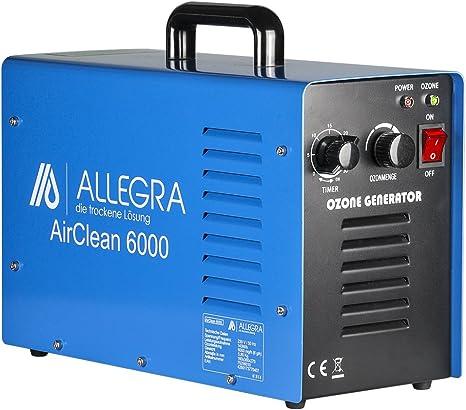 ALLEGRA Air Clean 6000 Generador de Ozono purificador de aire 6 g ...