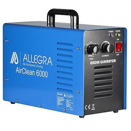 ALLEGRA Air Clean 6000 Generador de Ozono purificador de aire 6 g/h