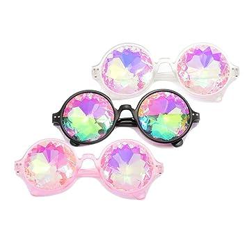 U&X Festivales Kaleidoscope Rainbow Gafas de Sol, Gafas de ...