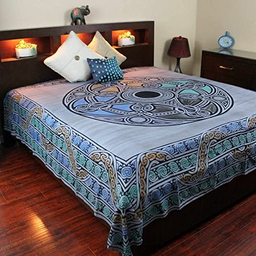 India Arts Celtic Wheel of Life Tapestry-Bedspread-Coverlet-Throw