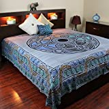 Blue Celtic Ball Indian Bedspread, Double Size