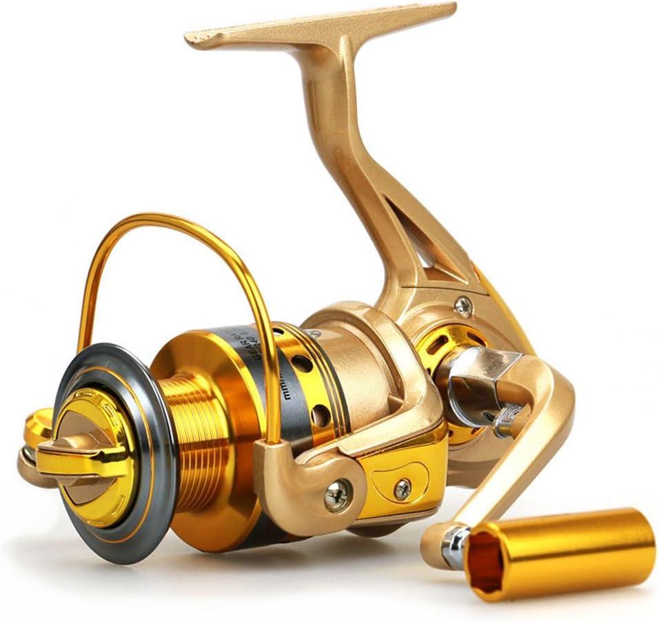 YUMOSH Spinning Carretes De Pesca Con Cuerpo De Metal De Gran 5.2 ...
