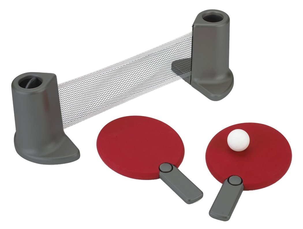 Pongo Table Tennis Set Red/Charcoal by Umbra