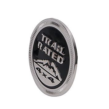 SENGEAR - Accesorios Embellecedores de Carrocería Emblema Metal Trail Rated 4X4 Trunk Tailgate Logo: Amazon.es: Coche y moto