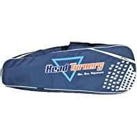 HeadTurners Badminton Kitbag with Two Main Zipper Compartment and 2 Additional Pockets- Blue