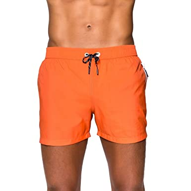 3ae42303ca Sweet Pants - Maillots de Bain Hommes - Happy-1 - L Orange: Amazon ...