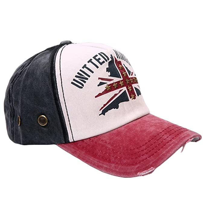 41a965fe84e LOCOMO UK Flag Baseball Cap Jeans Denim Union Jack Patriot Snapback  FFH374s05