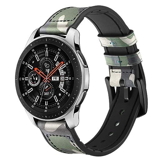 Cuir véritable avec Bracelet en Silicone pour Montre Samsung Gear S3 Frontier / S3 Classic/