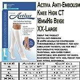 Activa Anti-EMB 18 mmHg Knee High Closed Toe Stockings, Beige, XX-Large