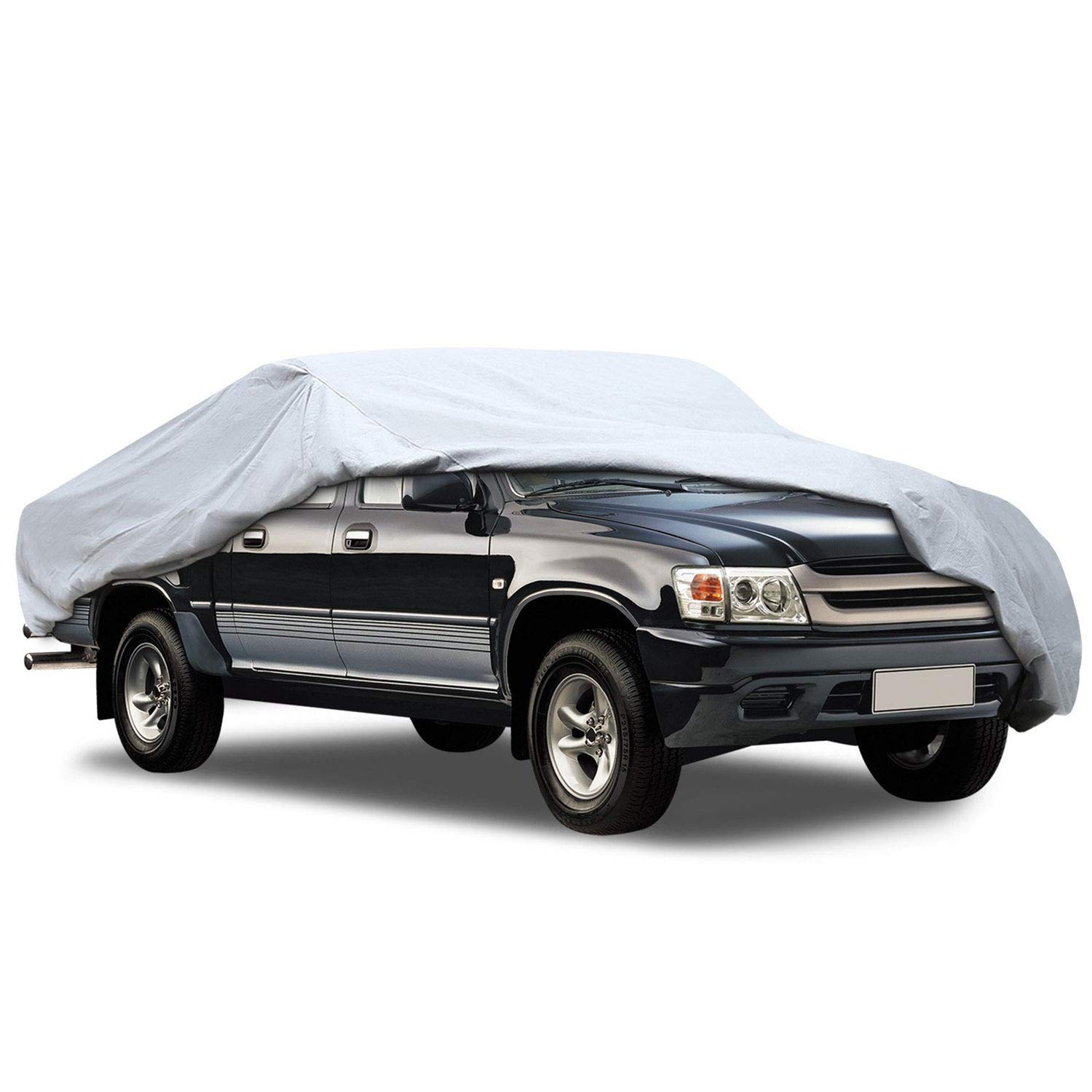 KAKIT SUV Cover Snowproof Waterproof All Weather Polyester Sun UV Protection Windproof Universal Outdoor Car Cover for SUV with Driver Door Zipper Fits up to 194