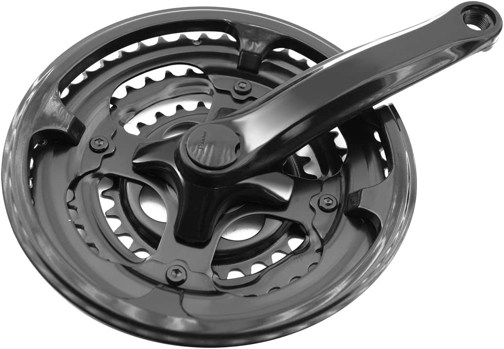 PROWHEEL - 356 : Triple plato y bielas platos plastificadas cubrecadenas 170mm bici bicicleta
