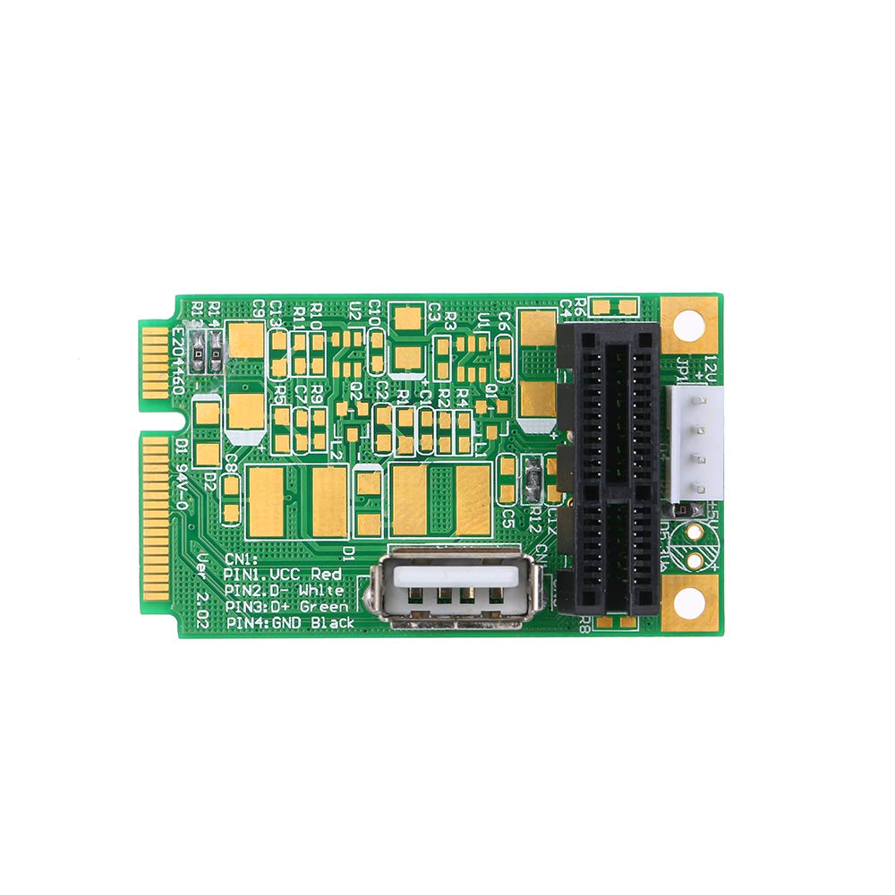Festnight Mini PCIe to PCI Express 4X 8X 16x Slot Riser Card Adapter Converter with 4 PIN Power Cable for Production Test