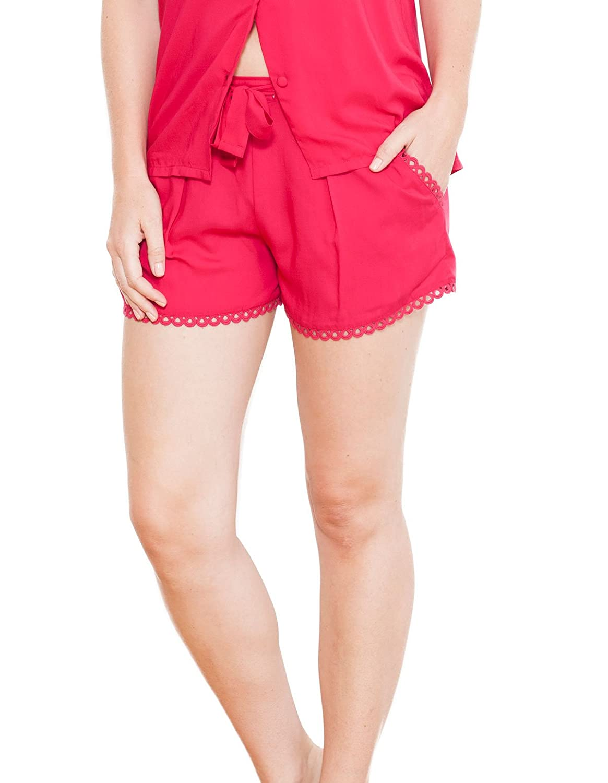 Cyberjammies 3713 Women's Katrina Pink Solid Colour Pajama Pyjama Short