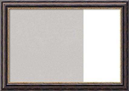 Pizarra multiusos con marco de corcho gris y borrado en seco ...